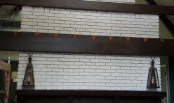 Painted Brick Mantelpiece