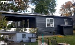 Rear Exterior Paint Job Before and After